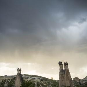Formaciones rocosas en Capadocia, Turquía