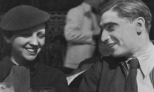 La pareja de fotoperiodistas Gerda Taro y Endre Friedmann