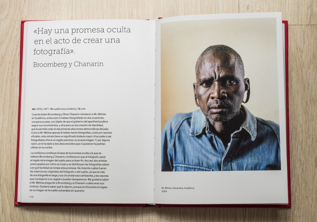 Retrato del interior del libro los fotógrafos hablan sobre la fotografía