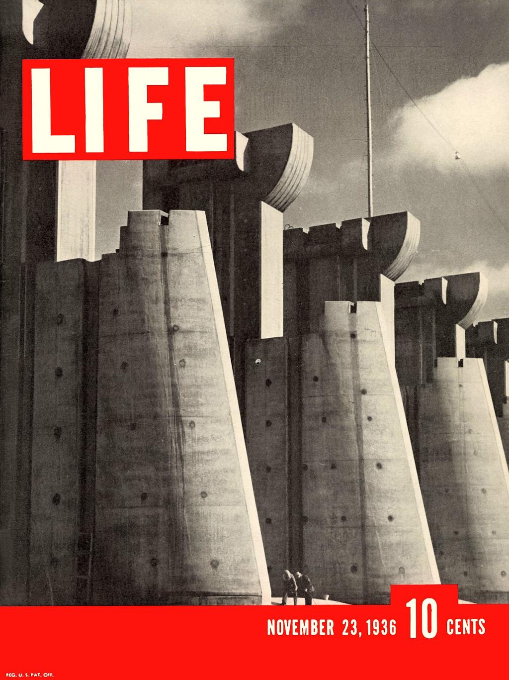 Primera portada de la revista Life, de Margaret Bourke-White.